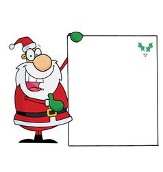 santa presenting a blank sign vector image vector image