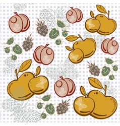 apple berry pattern vector image vector image