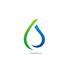 eco water drop abstract line logo vector image