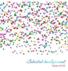Falling confetti pattern vector