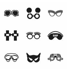 Glasses icon set vector
