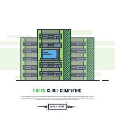 green cloud servers vector image