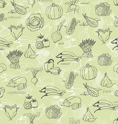 Kitchen seamless pattern with a variety of vector image vector image