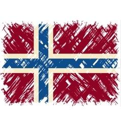 Norwegian grunge flag vector image