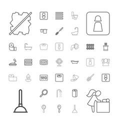 37 bathroom icons vector