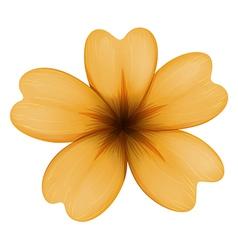 A five-petal orange flower vector