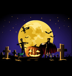 A halloween background design for halloween poster vector