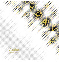 Abstract background with yellow and gray dots vector