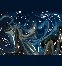 abstract blue marbled surface beautiful handmade vector image