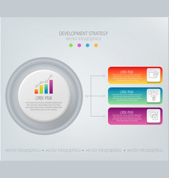 abstract element for businessstrategy in vector image