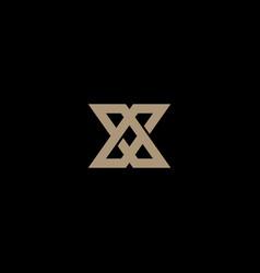 Abstract monogram letter x logo icon design vector