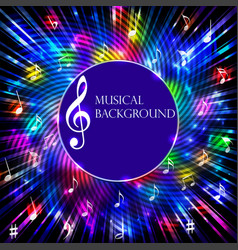 abstract musical background with bright light vector image