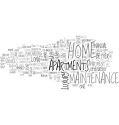 Apartment floor plans text word cloud concept vector