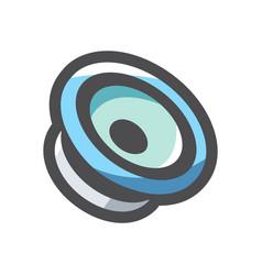 audio speaker equipment icon cartoon vector image