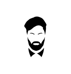 Avatar of a gentleman with a beard and mustache vector