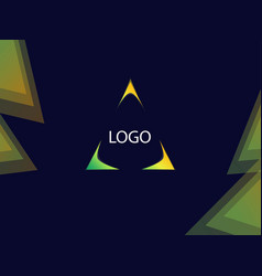 Background with triangle focus for signs or vector