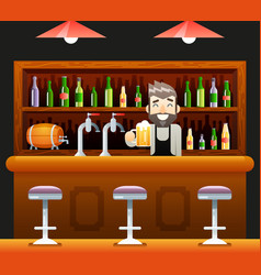 Barkeeper pub bar restaurant cafe symbol alcohol vector