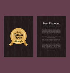best discount hot special price best offeradvert vector image