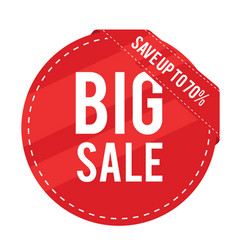 big sale save up to 70 red circle frame im vector image