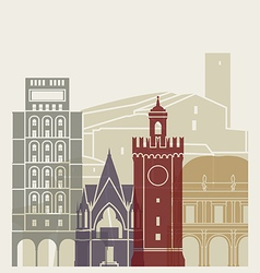 Brescia skyline poster vector image