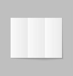 brochure mockup with trifold paper leaflet vector image
