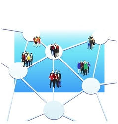business connection vector image