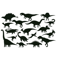 Cartoon dinosaurs jurassic extinct dino raptors vector