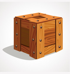 cartoon of wooden box icon vector image
