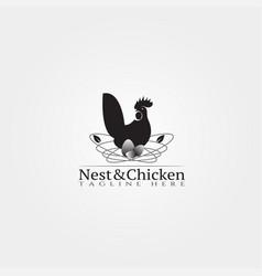 chicken farm icon template creative logo design vector image