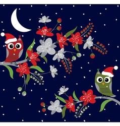 Christmas Night Owls vector image