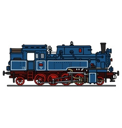 Classic blue steam locomotive vector