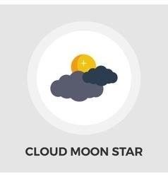 Cloud moon star Flat Icon vector image