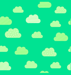 clouds cartoon pattern background kid birthday vector image