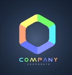 Corporate business hexagon logo icon design vector