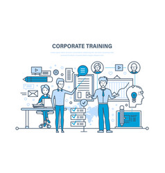 Corporate training education learning vector