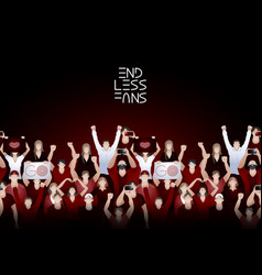 Crowd cheering fans vector