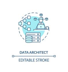 Data architect turquoise concept icon vector