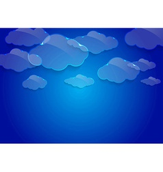 Dream glass clouds background vector image