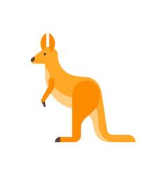 Flat style of kangaroo vector