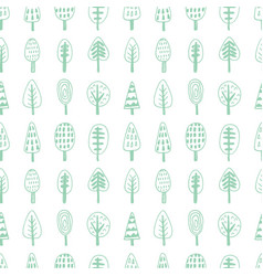 forest trees nordic seamless pattern vector image
