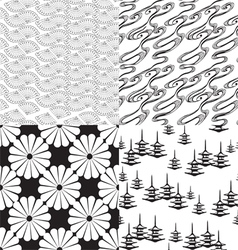 Four seamless texture vector