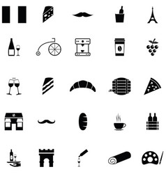 french icon set vector image