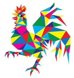 Geometric Rooster vector image