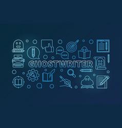 ghostwriter blue horizontal thin line vector image