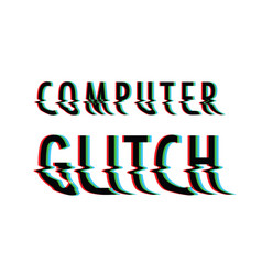 glitch text background vector image