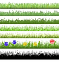 Grass patterns vector