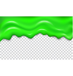 Green seamless dripping slime vector