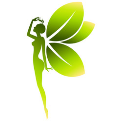 Green shape of beautiful woman icon cosmetic and vector