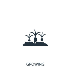 Growing carrot icon simple gardening element vector