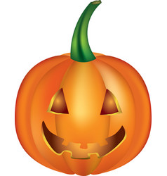 halloween pumpkin on white background vector image